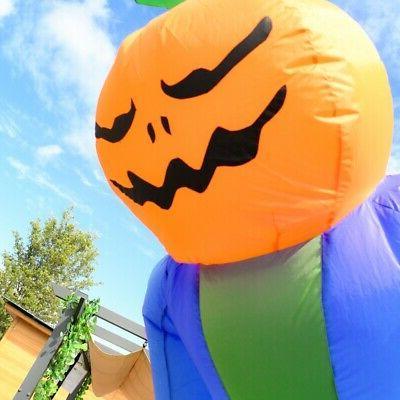 ALEKO Outdoor Halloween Ghost Pumpkin Head