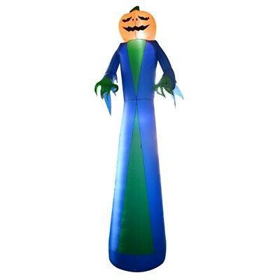 ALEKO Yard Halloween Inflatable Ghost Pumpkin