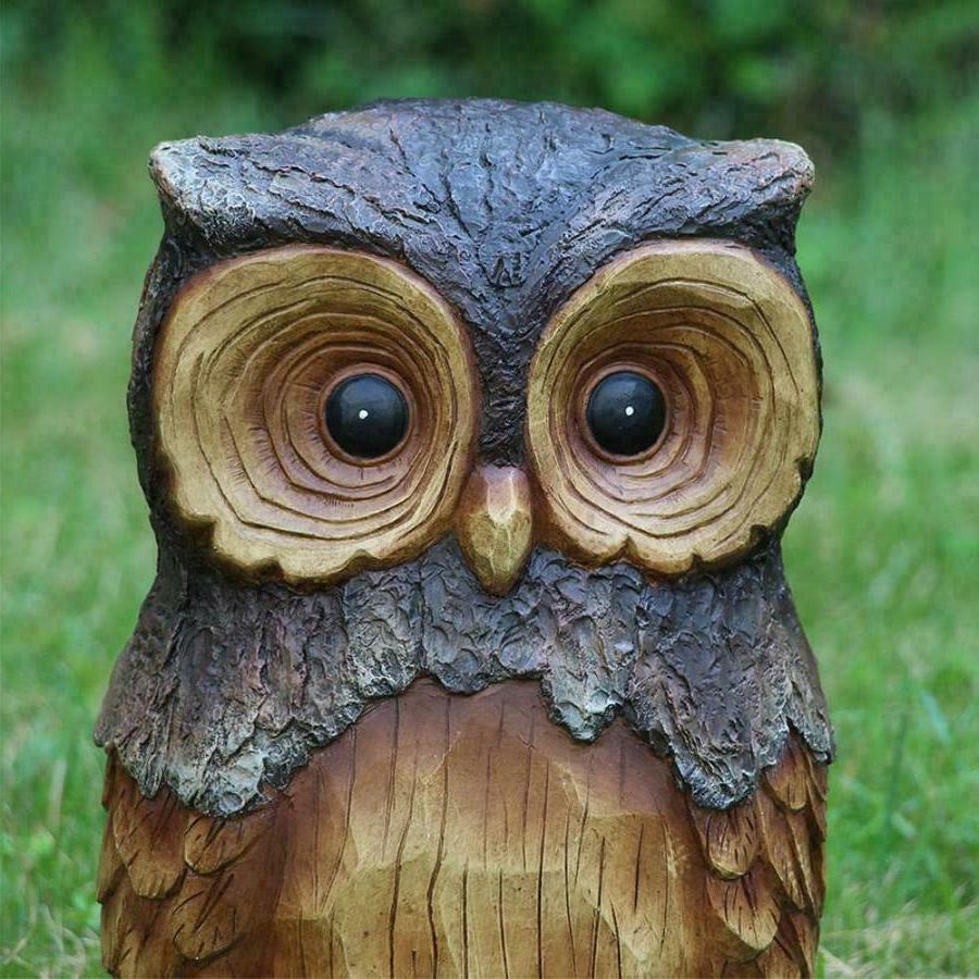 OWL GARDEN STATUE Outdoor Cute Animals
