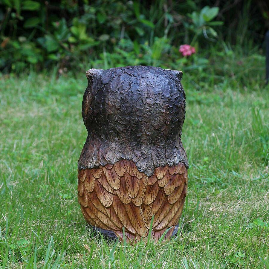 OWL ANIMAL GARDEN 11.5-in Resin Outdoor Animals