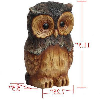 Owl Animal Garden 11.5 Decor Resin