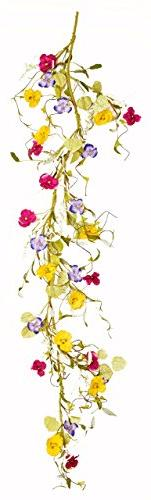 Worth Imports 60 Inch Pansy Garland