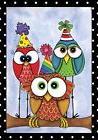 "Party Owls Celebration Garden Flag Birthday Humor 12.5"" x 18"