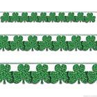 9ft St. Patrick's Day Green Prismatic Shamrock String Garlan