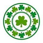 "St. Patrick's Day Lucky Shamrocks Round Plates, 7"" 8 Pc"