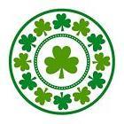 "St. Patrick's Day Lucky Shamrocks Round Plates, 9"" 8 Pc"