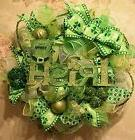 "*Handmade* ""IRISH"" St. Patrick's Day Wreath* Greens* Shamroc"