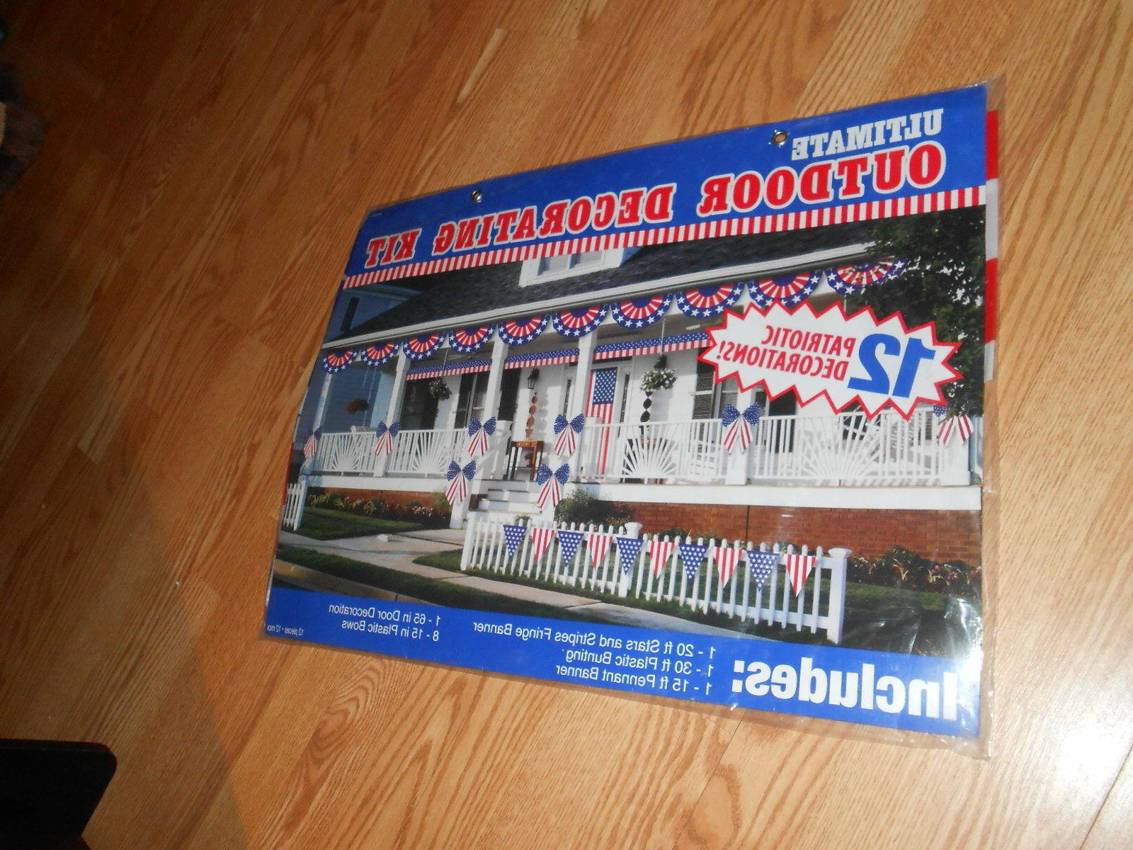 Amscan Patriotic Fourth of July Party Ultimate Outdoor Decor