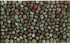 Welcome Door Mat Entry Pebble Beach Recycled Rubber Rocks St