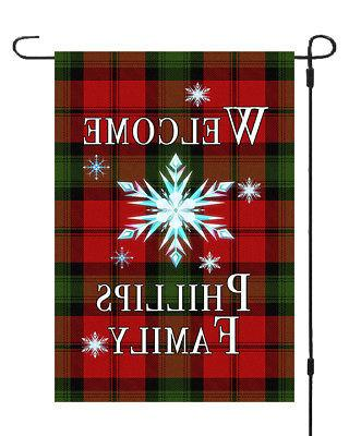 Personalized Christmas Star Banner Flag Style