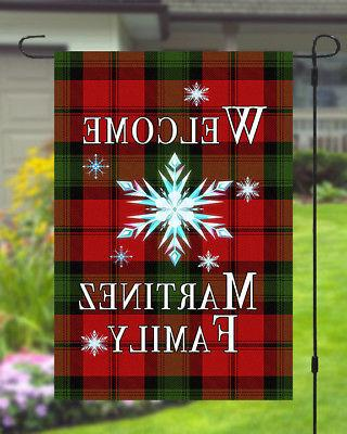 Personalized Christmas Star Banner 11x14 Style Yard Decor