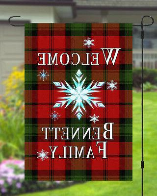 Personalized Banner Checkered Style