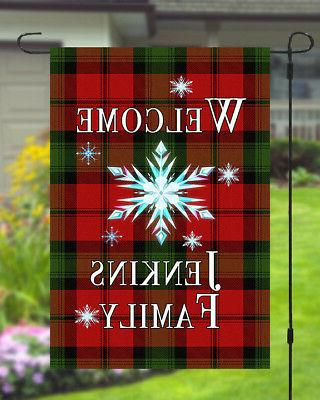 Personalized Garden Banner 11x14 Style Yard