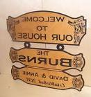 Personalized Custom Wood Sign WELCOME TO OUR  HOUSE Birch.La