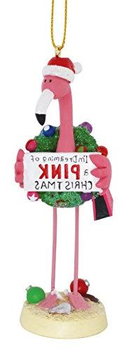 Pink Flamingo in Santa Hat I'm Dreaming of a Pink Christmas