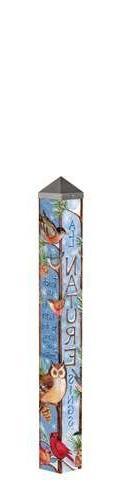 3' Art Pole All Nature Sings Painted Peace Pole 4-Sided Artw
