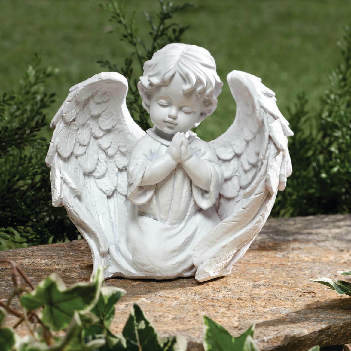 Praying Cherub Garden Statue Baby Angel Outdoor Indoor Yard