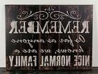 PRIMITIVE RUSTIC BLACK WOOD SIGN FAMILY HOME WALL DECOR HAND