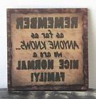 PRIMITIVE RUSTIC COUNTRY WOOD SIGN FAMILY HOME WALL DECOR HA
