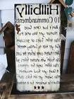 Primitive Sign Humorous Hillbilly 10 Commandments Subway Art