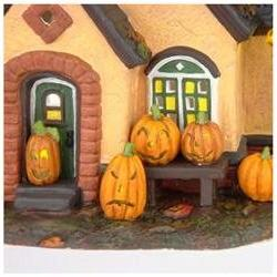 The Pumpkin House Department 56 Lighted Building