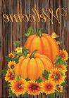 Pumpkins and Mums Fall Welcome Garden Flag Autumn Floral 12.