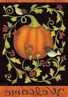 Pumpkins and Vines Fall Garden Flag Chickadees Welcome Autum
