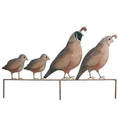 Quail Stake Metal Bird Statue Southwestern Wildlife