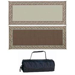 Ming'S Mark Rc7 Brown/Beige 8' X 20' Classical Reversible Ma
