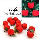 12 Pcs Red Apple Hanging Ornaments Accessory For Xmas Christ