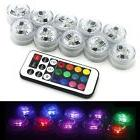 HOAEY RGB Tea Light Waterproof LED Tea Lights with Remote Co