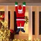 Roof Hanging Santa Christmas Decoration Outdoor Indoor Decor