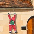 Roof Hanging Santa Christmas Tree Ornament Home Outdoor Deco