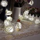 Rose Flower Fairy String Lights 20LED Wedding Garden Party C