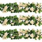 Rose Garland Artificial Rose Vine with Green Leaves 63 Inch