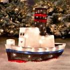 Rudolph Misfit Toy Boat Sculpture 3-D Lighted Outdoor Christ