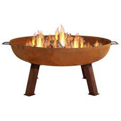 Sunnydaze Large Rustic Cast Iron Wood Burning Fire Pit Bowl,