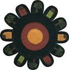 PRIMITIVE SALTBOX HOUSE AND WILLOW TREES ROUND FELT TABLE MA