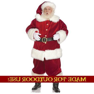SANTA CLAUS Plastic Outdoor YARD SIGN Lifesize Christmas Sta