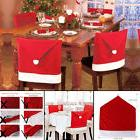 4pcs Santa Clause Red Hat Chair Back Cover Christmas Dinner