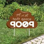 scoop poop lawn sign