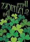 Shamrocks St. Patrick's Day Clover Toland  Small Garden Flag