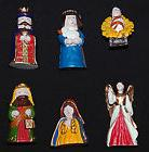 """Six  Christmas Nativity Miniatures Figurines in Boxes 1 1/2"""""""