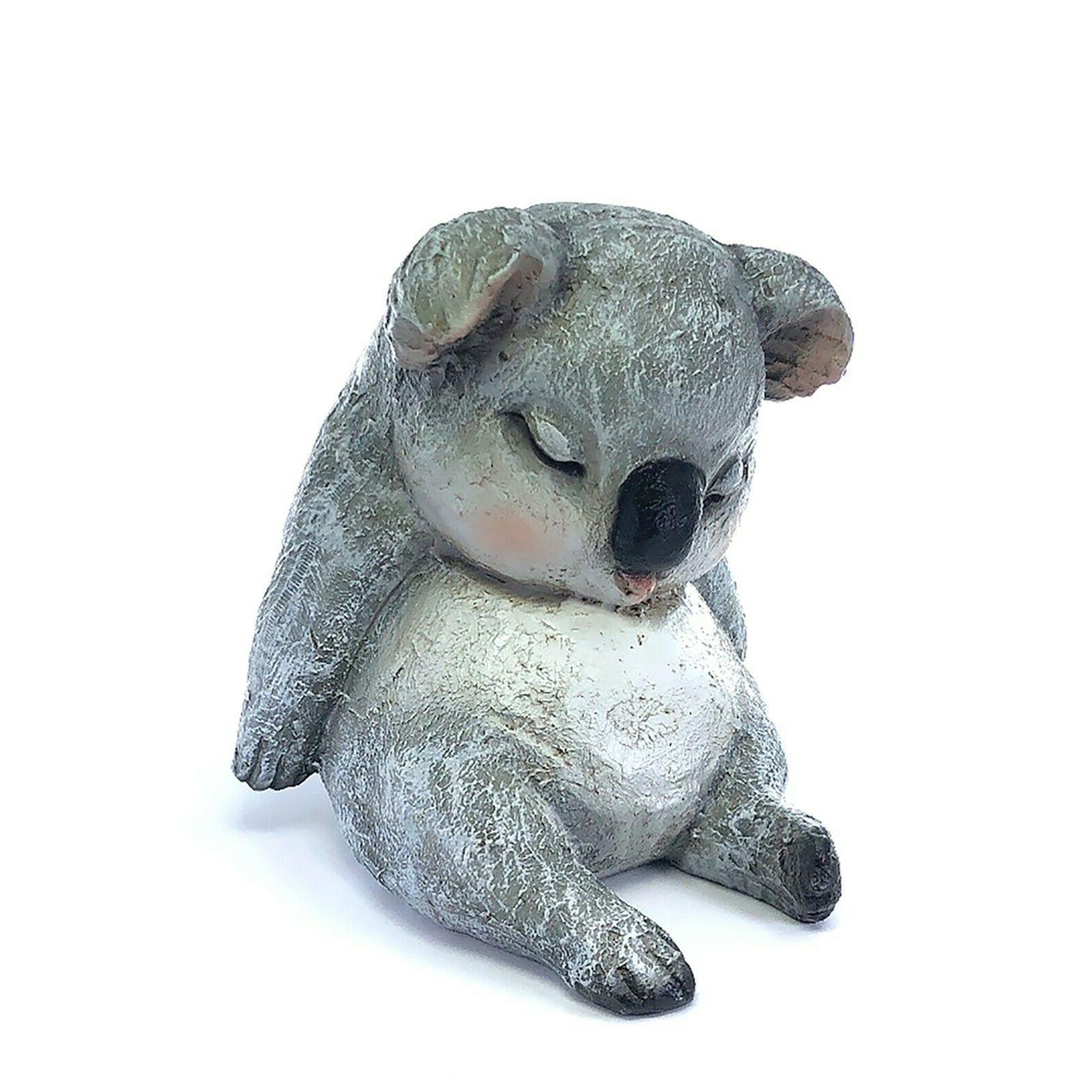 sleeping animal koala bear garden statue art