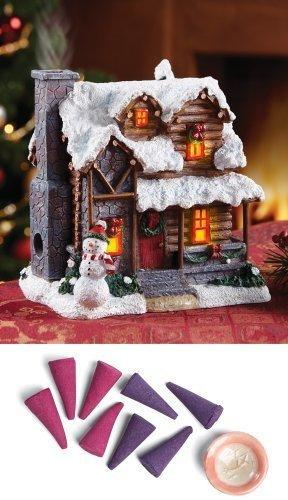 smoking country christmas cabin incense