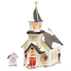 Department 56 Original Snow Village Holy Family Church Light