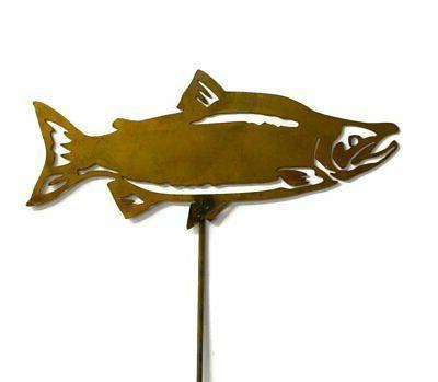 sockeye salmon yard art fish garden decor