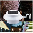 Solar 3 LED Light Gutter Fence Patio Corridor Lamp Outdoor G