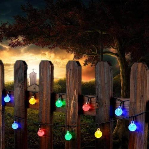 Solar Light Ball Yard Decor Lamp Waterproof