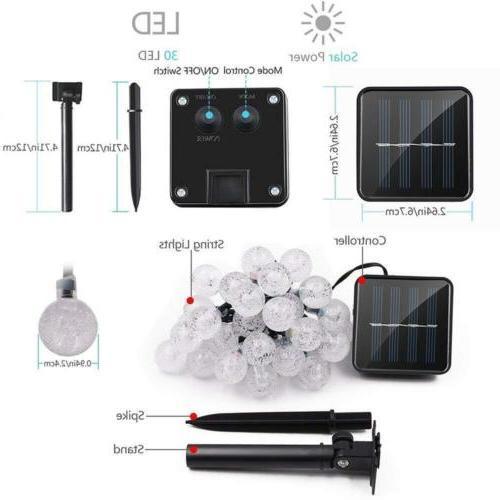 Solar 30 LED String Light Ball Garden Waterproof